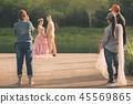 Photographer take pre-wedding photos  45569865
