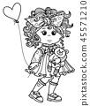 Vector cute unicorn cartoon. 45571210