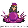 Fortune teller woman 45571529
