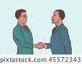 African businessmen handshake deal 45572343