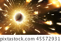 Baseball. Baseball ball. Baseball background with fiery sparks in action 45572931