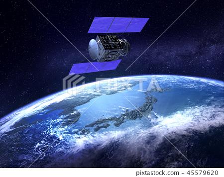 人造衛星地球日本GPS通信網絡 45579620