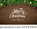 christmas, greeting, fir 45583846