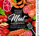 meat, butchery, vector 45584070