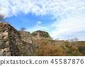 Takeda Castle ruins and Ishigaki (Hyogo Prefecture) 45587876