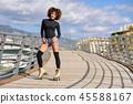 woman, rollerskating, female 45588167