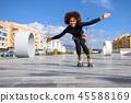 woman, rollerskating, female 45588169