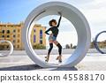 woman, rollerskating, female 45588170