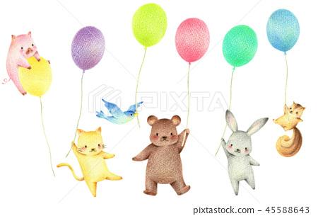 有氣球的動物 45588643