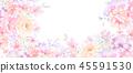 優雅的玫瑰花和牡丹花花卉 45591530
