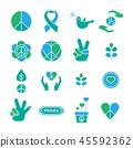 Peace Icon set, sign,symbol,design element 45592362