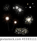 Set Of Fireworks And Bengal Light 45593111