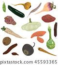 vegetables on white background 45593365