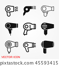 Hairdryer vector icon. Hair drying symbol, modern UI website symbol 45593415