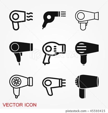 Hairdryer vector icon. Hair drying symbol, modern UI website symbol 45593415