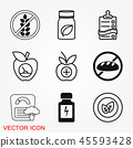 icon, set, food 45593428