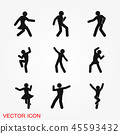 Dancing vector icon. Illustration on background, people dance 45593432
