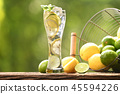 Infused water with lime and lemon 45594226