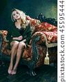 의자, 걸상, 여자 45595444