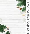 배경 - 흰 - 크리스마스 - 장식 45595741