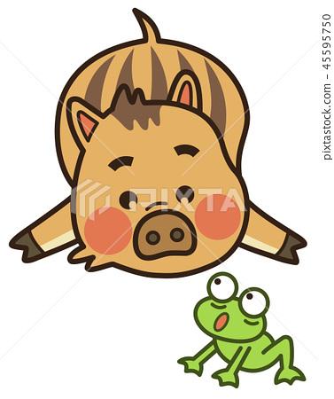 Uribou and frog 45595750