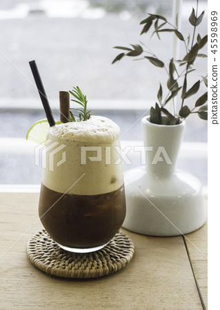 Waking up drink of lime coffee 45598969