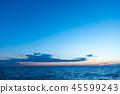 風景 自然景色 玄界灘 45599243