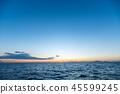 風景 自然景色 玄界灘 45599245
