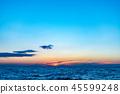 風景 自然景色 玄界灘 45599248