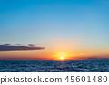 風景 自然景色 玄界灘 45601480