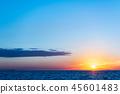 風景 自然景色 玄界灘 45601483