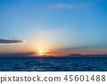 風景 自然景色 玄界灘 45601488