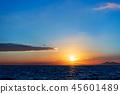 風景 自然景色 玄界灘 45601489