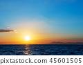 風景 自然景色 玄界灘 45601505