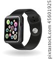 watch, icon, digital 45601925