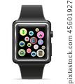 watch, icon, digital 45601927