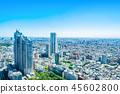 skyline aerial view of shinjuku in Tokyo, Japan 45602800