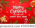 Christmas banner New Year card for winter holidays 45605868