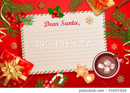 Christmas template for Letter to Santa Claus. 45605880