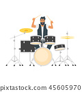 young bearded drum musician 45605970