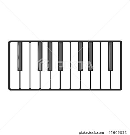 Musical instrument keys. 45606038