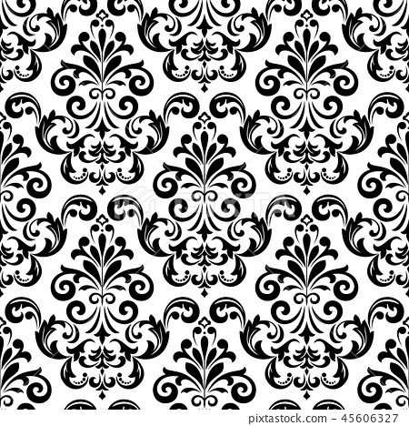 Floral pattern. Vintage wallpaper in the Baroque  45606327