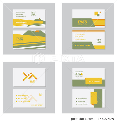 Creative and Clean Business Card Template. Flat Design Vector Illustration. Stationery Design 45607479