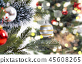 Christmas tree decoration with Abstract Bokeh 45608265