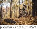 Image of athlete man riding sports bike on track 45608524