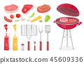 barbecue, set, barbeque 45609336