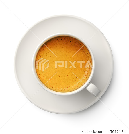 Coffee cup with cream foam 45612184