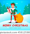 elf christmas cartoon 45612598