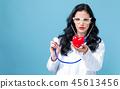 女人 女性 听诊器 45613456