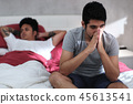Gay People Having Problems And Conflict In Home Bed 45613541